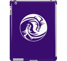 Yin Yang, Dragon, Doctormo, Dring, Drang, Eastern, WHITE on Deep Purple iPad Case/Skin