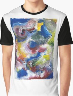 Original Abstract Acrylic Painting Graphic T-Shirt