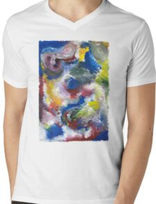 Original Abstract Acrylic Painting Mens V-Neck T-Shirt