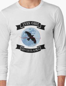 This Girl Loves Damon Long Sleeve T-Shirt