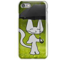 Cat In The Rain iPhone Case/Skin