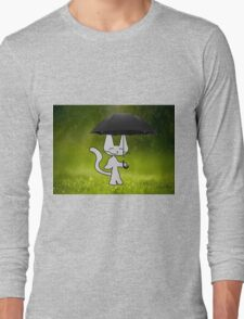 Cat In The Rain Long Sleeve T-Shirt