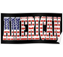AMERICAN PATRIOT, AMERICA, Patriotic Type, Patriot Type, ON BLACK Poster