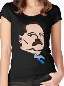 STEPHEN GROVER CLEVELAND Women's Fitted Scoop T-Shirt