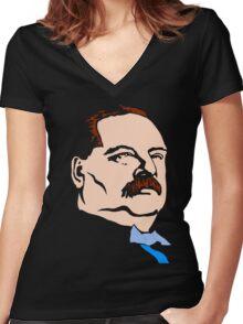 STEPHEN GROVER CLEVELAND Women's Fitted V-Neck T-Shirt