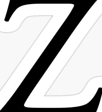 Z, Zee, Zed, Alphabet Letter, Zulu, Zero, Zoro, A to Z, 26th Letter of Alphabet, Initial, Name, Letters, Tag, Nick Name Sticker