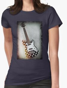 Hanging Electric Ukulele Womens Fitted T-Shirt