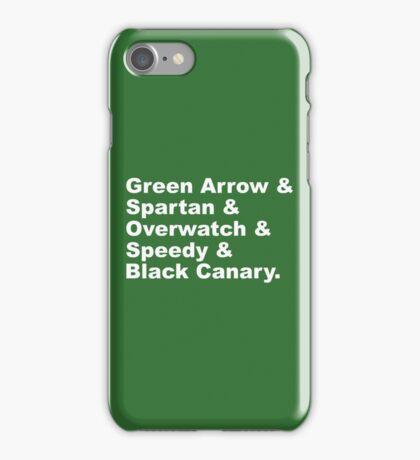 Team Arrow Codenames (Season 4)  iPhone Case/Skin