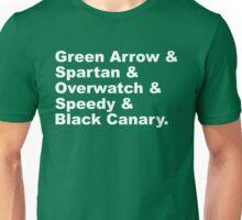 Team Arrow Codenames (Season 4)  Unisex T-Shirt