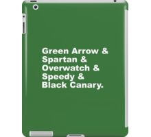 Team Arrow Codenames (Season 4)  iPad Case/Skin