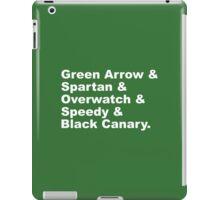 Team Arrow Codenames (Season 4)  iPad Case/Skin