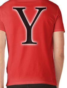 Y, wye, why, Alphabet Letter, Yankee, Young, A to Z, 25th Letter of Alphabet, Initial, Name, Letters, Tag, Nick Name Mens V-Neck T-Shirt