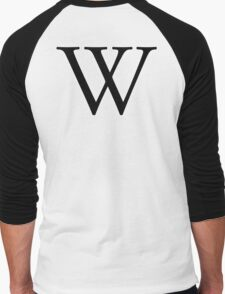 W, double u, Alphabet Letter,  Whiskey, William, A to Z, 23 Letter of Alphabet, Initial, Name, Letters, Tag, Nick Name Men's Baseball ¾ T-Shirt