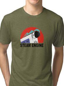steam engine Tri-blend T-Shirt