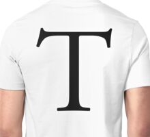 T, tee, Alphabet Letter, Tango, Thomas, Tom, A to Z, 20th Letter of Alphabet, Initial, Name, Letters, Tag, Nick Name Unisex T-Shirt