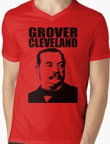 GROVER CLEVELAND-3 Mens V-Neck T-Shirt