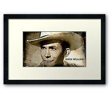 True Legend Hank Williams Framed Print