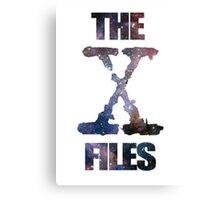 X-Files Space logo design Canvas Print