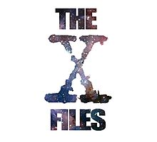 X-Files Space logo design Photographic Print