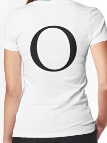 O, Alphabet Letter, Oscar, Ocean, A to Z, 15th Letter of Alphabet, Initial, Name, Letters, Tag, Nick Name Women's Fitted V-Neck T-Shirt