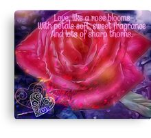 Love like a Rose Canvas Print