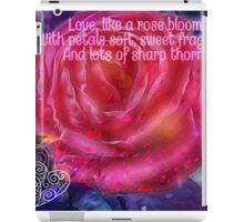Love like a Rose iPad Case/Skin