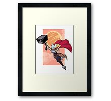 Lady Thor  Framed Print