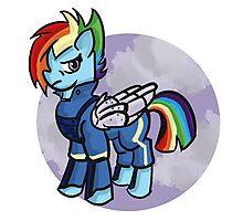 My little pony- rainbow dash (cutie re-mark) Photographic Print