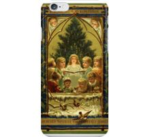 Christmas Childrens Choir Peace on Earth Vintage Holiday iPhone Case/Skin