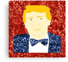 sequin donald trump Canvas Print