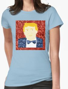 sequin donald trump Womens Fitted T-Shirt