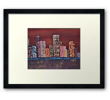 The Abstract City Framed Print