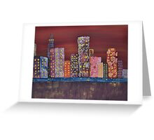 The Abstract City Greeting Card