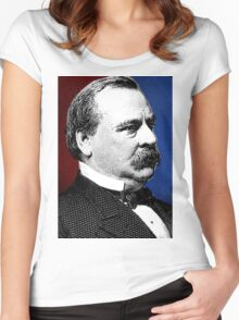 GROVER CLEVELAND Women's Fitted Scoop T-Shirt