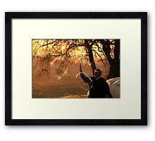 Psalm 148:3 Praise Him, sun and moon; Praise Him, all stars of light! Framed Print