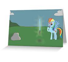 Star wars Rainbow Dash Greeting Card