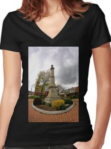 Statue Women's Fitted V-Neck T-Shirt