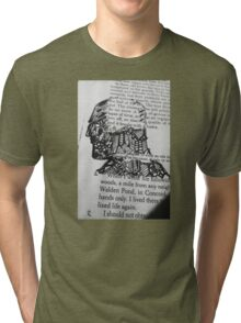 The Face and Literature  Tri-blend T-Shirt