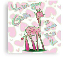 You Bet Your Giraffe - Valentine Canvas Print