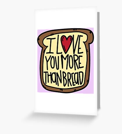 Carb Love <3 Greeting Card