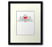drawing hearts pencil Framed Print