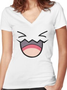 Wobbuffet Women's Fitted V-Neck T-Shirt