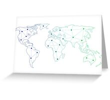 connected atlas Greeting Card