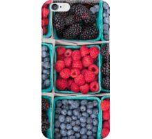 Strawberries Blueberries Blackberries iPhone Case/Skin