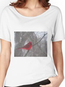 Cardinal Calm in Chaotic Conditions Women's Relaxed Fit T-Shirt