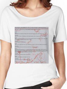 Joe_Cracker's Writing Assignment (Graded by Sexualburgerking) Women's Relaxed Fit T-Shirt
