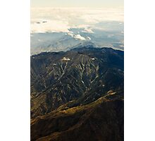 Rocky Mountains Aerial View Photographic Print