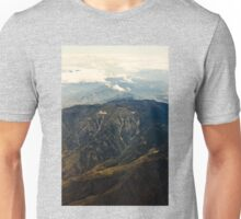 Rocky Mountains Aerial View Unisex T-Shirt