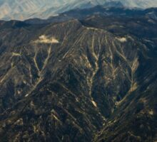 Rocky Mountains Aerial View Sticker