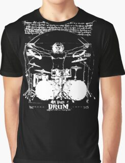 Vintage Da Vinci Drum Graphic T-Shirt